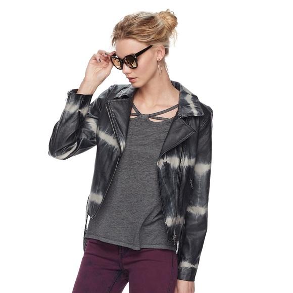 Rock & Republic Jackets & Blazers - Rock & Republic NWT tie dye faux leather jacket